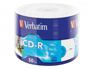 CD-R Verbatim 700MB Extra Protection Printable Wrap (50 Spindel)