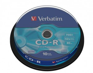 CD-R Verbatim 52x 700MB Extra Protection (Cake 10)