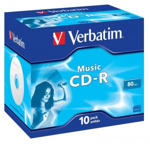 CD-R Verbatim Music 80min (jewel case 10)