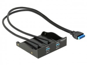"Frontpanel Delock 2x USB 3.0 do zatoki 3,5""/5,25"" Pin Header"
